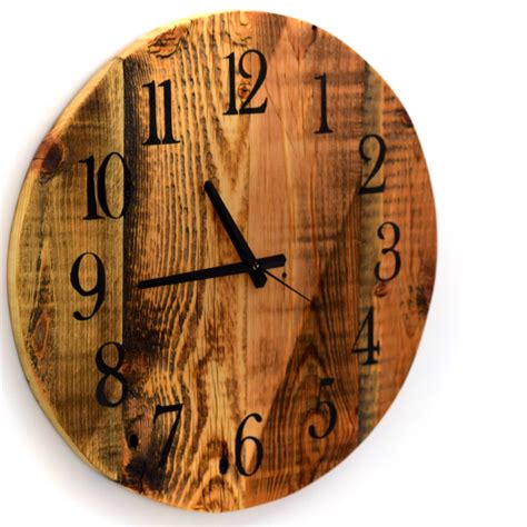 wood clock reclaimed barn wood clock large round barn wood wall clock