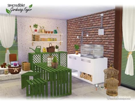 Sims 4 Foyer by The Sims Resource Gardening Foyer Decor By Simcredible