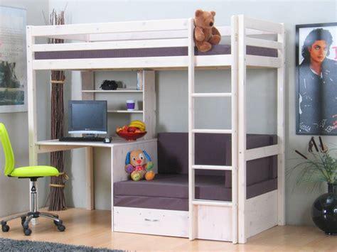 buro voor kinderkamer thuka hoogslaper met bureau wit thuka