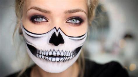 imagenes de calaveras maquillaje maquillaje halloween calavera f 225 cil y r 225 pido de hacer
