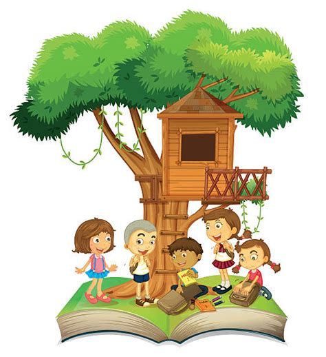 treehouse kid and craft royalty free tree house clip vector images