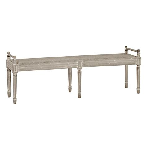 narrow bench francis swedish gustavian white wash narrow caned bench