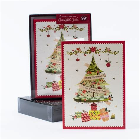 boxed cards merry chistmas happy new year