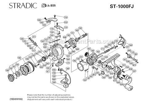 shimano stradic parts diagram shimano st 1000fj parts list and diagram