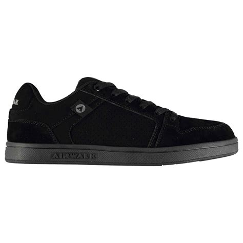 airwalk mens brock skate shoes lace up suede accents sport