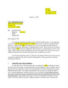 Insurance Appeal Letter For Claim Best Photos Of Insurance Appeal Letter Sle Insurance Appeal Letter Template Health