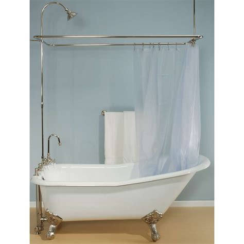 shower curtain rods for clawfoot tubs clawfoot tub curtain rod soozone