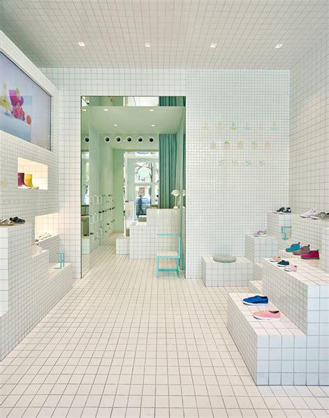 home design store barcelona nabito architects covers children s shoe shop in barcelona