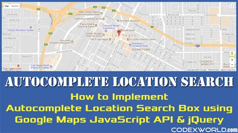 Maps Api Address Search Autocomplete Location Search Using Maps Javascript Api And Jquery Codexworld