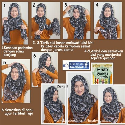 tutorial hijab pashmina kaos pesta hijab wanita cantik tutorial hijab tutorial pashmina katun hijab wanita cantik