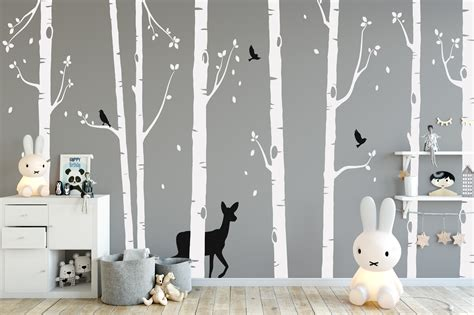 tree wall stickers nursery ideas forest animal wall stickers