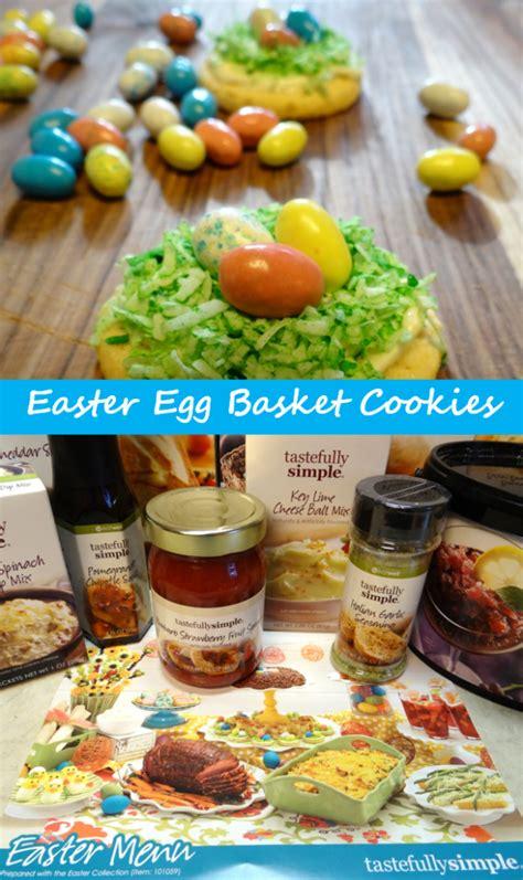 easy elegant easter dinner menu mom favorites easter egg basket cookies tastefully simple easter menu