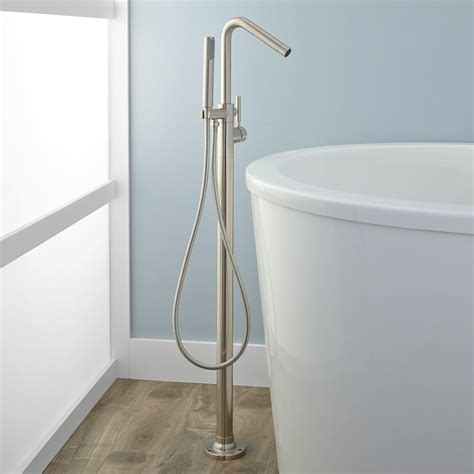 bathtub fixtures with handheld shower vera freestanding tub faucet and hand shower bathroom