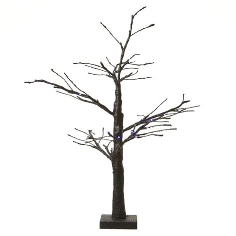 light up black glitter led twig tree
