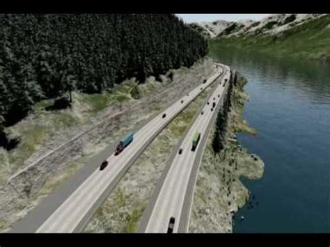 i 90 snoqualmie pass east design visualization youtube