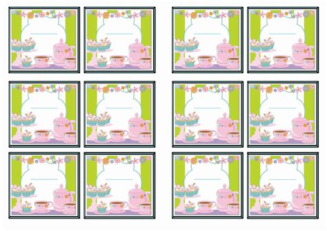 printable name tags for tea party tea party name tags birthday printable