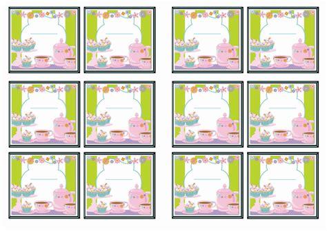 printable name tags for birthday party tea party name tags birthday printable
