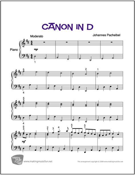 tutorial guitar canon in d canon in d sheet music for piano digital print free