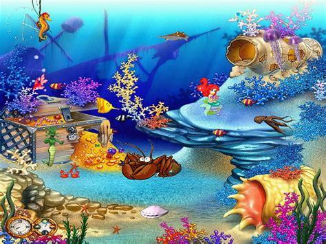 cartoon wallpaper or screen saver free aquarium screensaver animated aquaworld