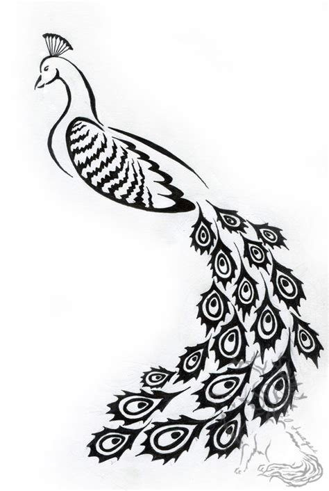 tribal peacock tattoo tribal peacock design