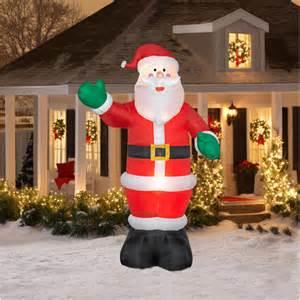 12 tall airblown christmas inflatable santa walmart com