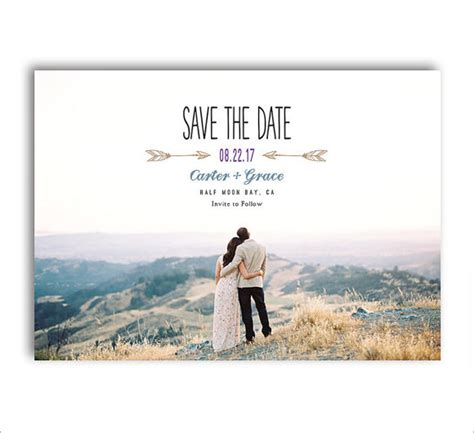 10 Sle Save The Dates Sle Templates Save The Date With Photo Templates