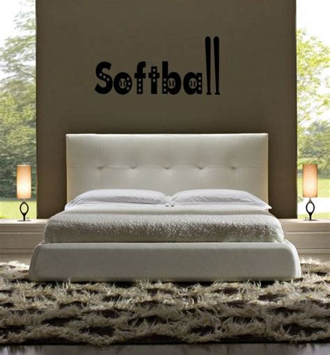 softball bedroom softball bat ball children s girls sticky sports bedroom vinyl wall l
