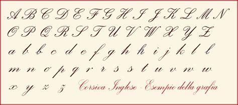 lettere corsivo inglese caratteri in corsivo inglese