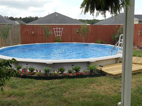 pool backyard ideas with above ground pools deck shed