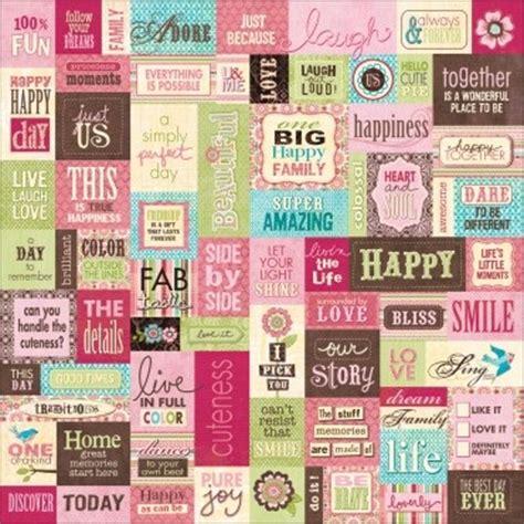Scrapbook Love Quotes Stickers