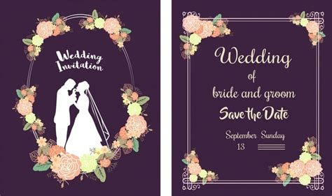 Classic Wedding Card Template Free by Birthday Invitation Template Free Vector 14 715