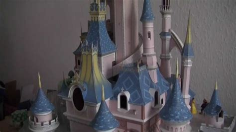 Sleeping Castle Papercraft - sleeping 180 s castle paper model illuminated
