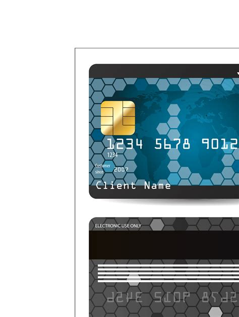 Credit Card Template Ai Credit Bank Card Template Vector 187