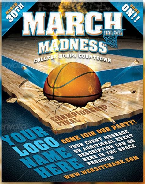 20 Electrifying Print Ready Sports Flyer Templates Madness Flyer Template