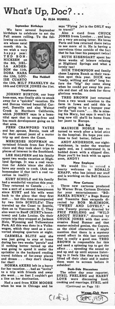 Warner Club News (1959) – Part 2