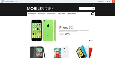 mobile themes unique mobile store virtuemart themes free premium templates