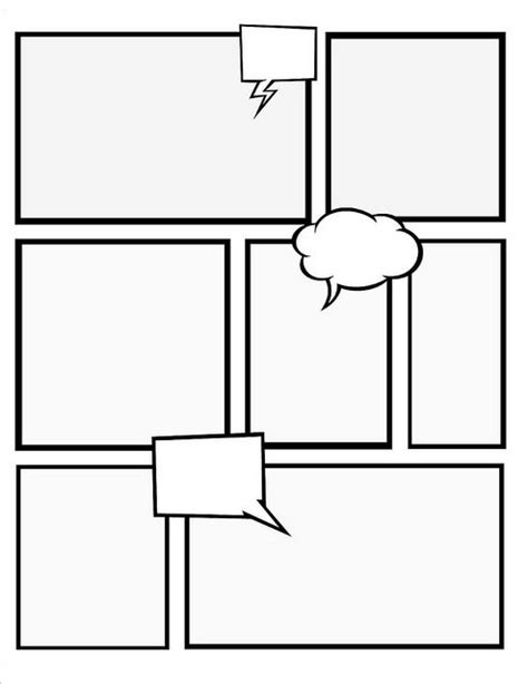 make your own comic book with these templates crafts