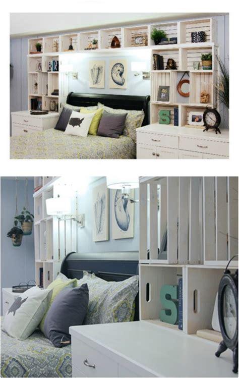 idea da letto arredare la da letto con le cassette di legno 20