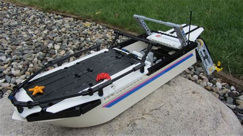 lego boat rc lego technic rc boat moc youtube