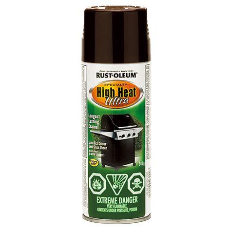 high heat spray paint 340g brown rona
