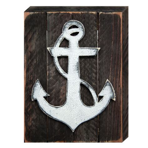 rustic nautical home decor rustic anchor nautical decor vintage board
