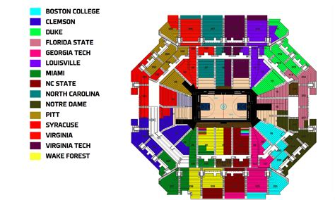 tournament of seating map acc tournament seating chart released sports channel 8