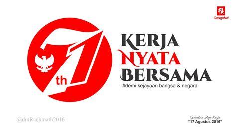 hut ri 71 logo kerja nyata bersama by imahkudesain on
