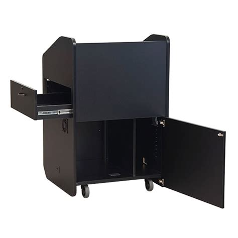 vfi avf audio visual furniture mid size podium with rack