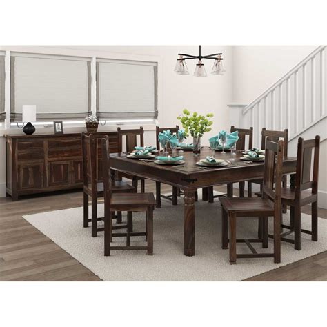 richmond handcrafted rustic solid wood  piece dining