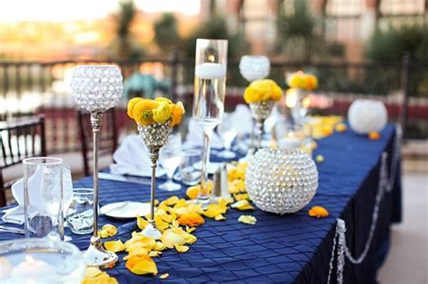 navy blue yellow and gray wedding reception   purple and