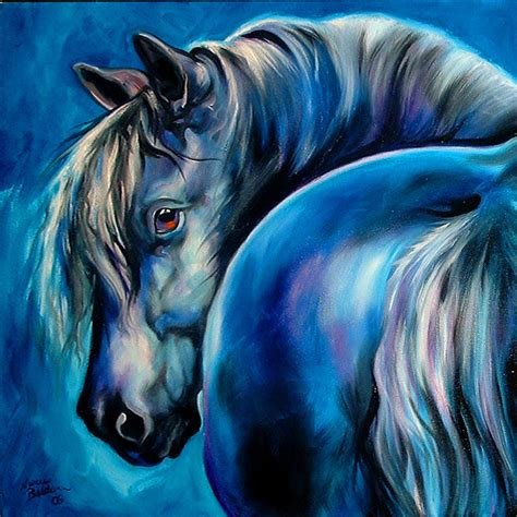 blue artist blue moon painting by marcia baldwin