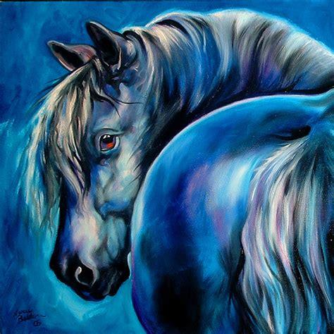 blue artist blue moon painting by marcia baldwin