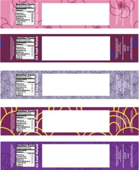 customizable templates for water bottle labels and