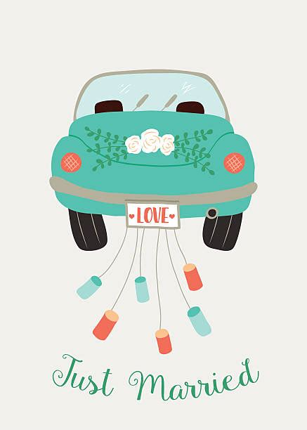 Just Married Auto Grafik by Just Married Auto Vektorgrafiken Und Illustrationen Istock